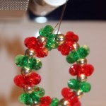 Red Sparkling Wreath Hanging (Christmas Ornaments)