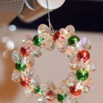 Clear Sparkle Wreath Hanging (Christmas Ornaments)