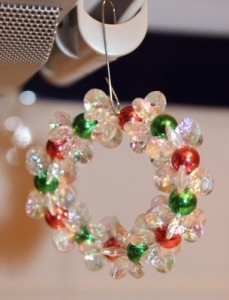Clear Sparkle Wreath Hanging
